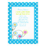 Polkadot & Flowers House Warming Party Invitations