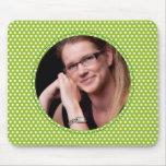 Polkadot Frame green Mousepads