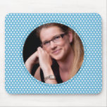 Polkadot Frame in blue Mousepad