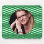 Polkadot Frame in green Mousepad