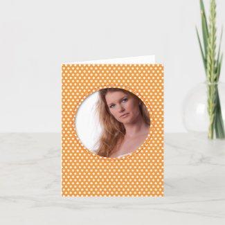 Polkadot Frame in orange zazzle_card