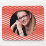 Polkadot Frame in red Mousepads