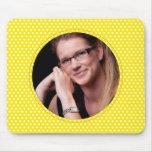 Polkadot Frame in yellow Mousepad