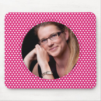 Polkadot Frame pink Mouse Pad