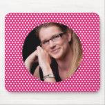 Polkadot Frame pink Mousepad