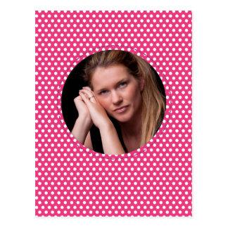 Polkadot Frame pink Postcard