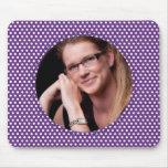 Polkadot Frame purple Mouse Pad
