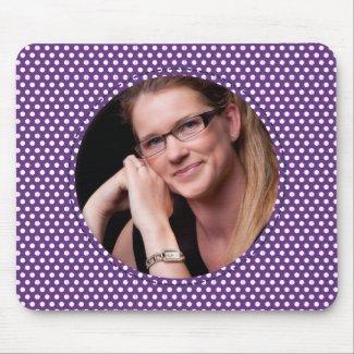 Polkadot Frame purple zazzle_mousepad