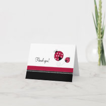 Polkadot Ladybug Folded Thank you notes
