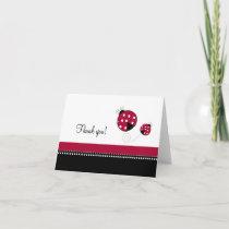 Polkadot Ladybug Folded Thank you notes
