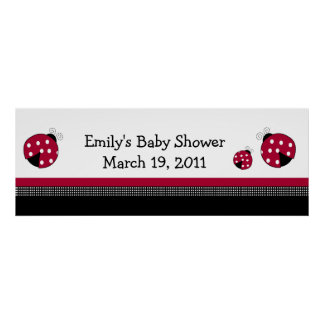 POLKADOT LADYBUGS Baby Shower /  Birthday Banner Posters