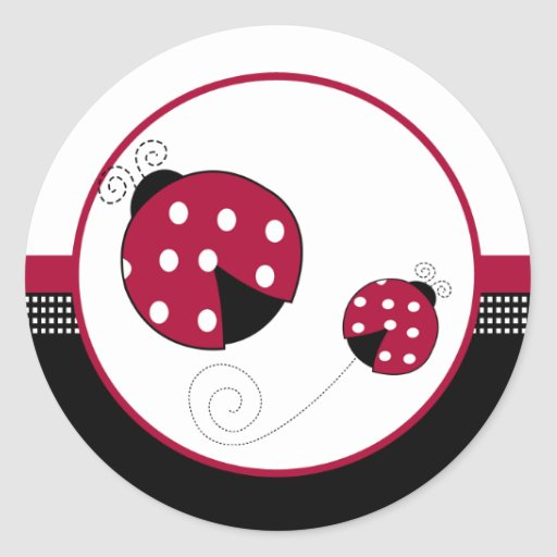 Polkadot Ladybugs Envelope Seals