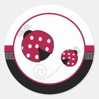 Polkadot Ladybugs Envelope Seals Classic Round Sticker