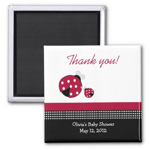 Polkadot LadybugsBaby Shower Favor Magnet