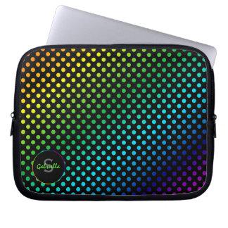 Polkadot: Monogram Laptop Sleeve