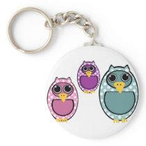 Polkadot Owl Drawing Keychain