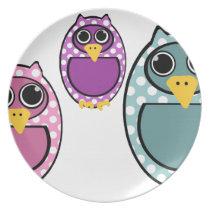Polkadot Owl Drawing Plate