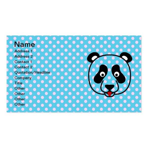 Polkadot Panda Face Business Cards