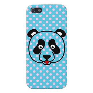 Polkadot Panda Face Case For iPhone SE/5/5s