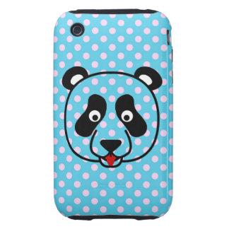 Polkadot Panda Face iPhone 3 Tough Cover