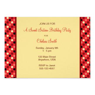 Polkadot Party 5x7 Paper Invitation Card