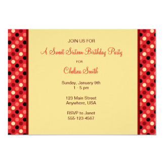 Polkadot Party Personalized Invites