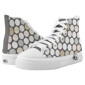 Polkadot Pattern High-Top Sneakers