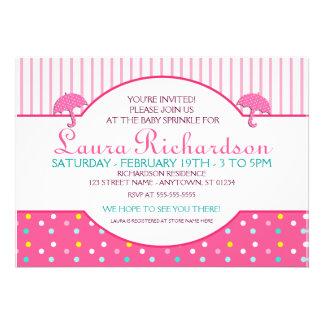 Polkadot Pink Baby Sprinkle Invitations