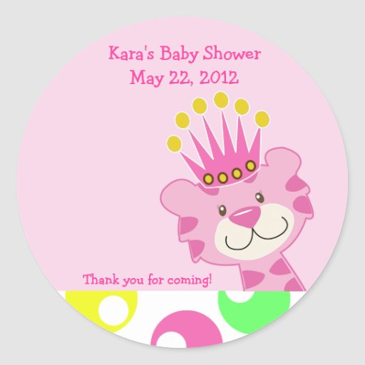 Polkadot Queen of the Jungle Custom Favor Sticker