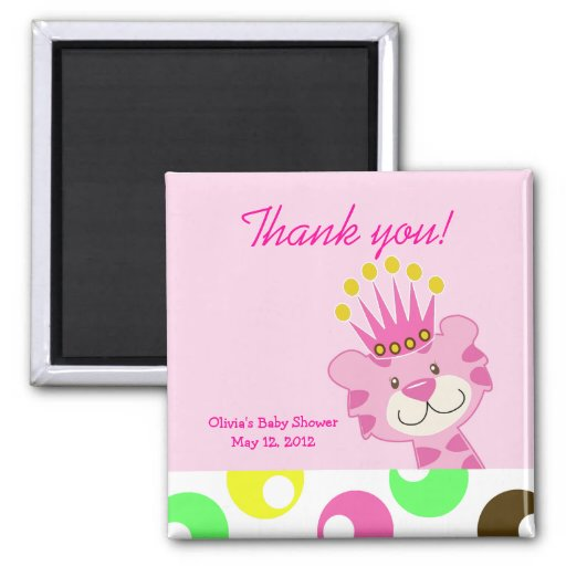 Polkadot Queen of the Jungle Favor Magnet