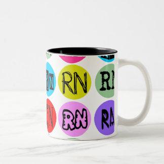 Polkadot RN Two-Tone Coffee Mug