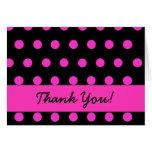 Polkadot rosado le agradece tarjeta