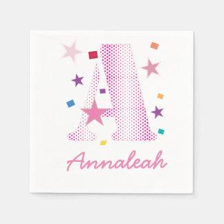 polkadot rosado pattern.ai de la letra A de la Servilleta De Papel