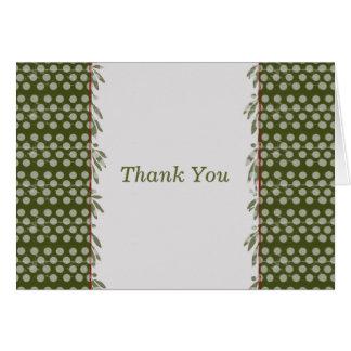 Polkadot Thank You Card