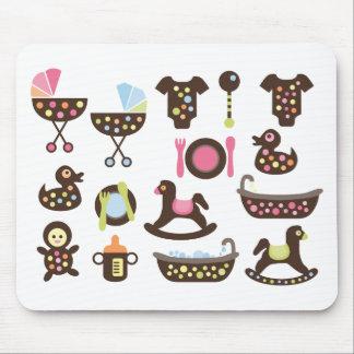 PolkadotBaby1 Mouse Pad