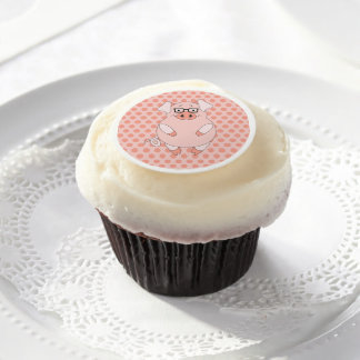 Polkadots and Pig Edible Frosting Rounds