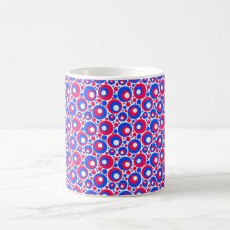 Polkadots azul blanco rojo tazas