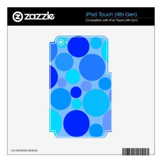 Polkadots azul triple iPod touch 4G calcomanía