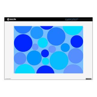 Polkadots azul triple portátil calcomanía