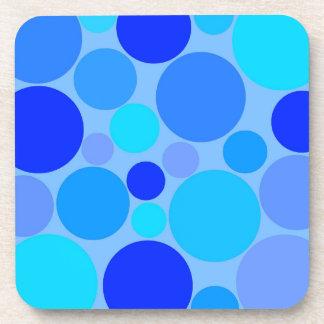 Polkadots azul triple posavasos de bebida