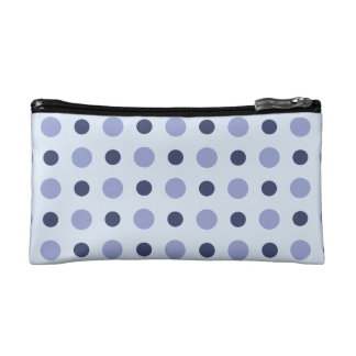 Polkadots Blue Cosmetic Bag