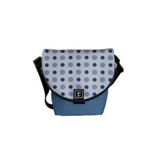 Polkadots Blue Courier Bag