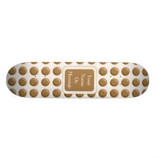 Polkadots - chocolate con leche y chocolate blanco tabla de patinar