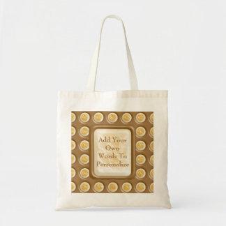 Polkadots - Chocolate Marshmallow Tote Bag