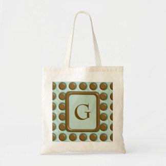 Polkadots - Chocolate Mint Tote Bag
