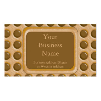 Polkadots - Chocolate Peanut Butter Double-Sided Standard Business Cards (Pack Of 100)