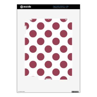 Polkadots color de rosa y blanco calcomanías para iPad 2