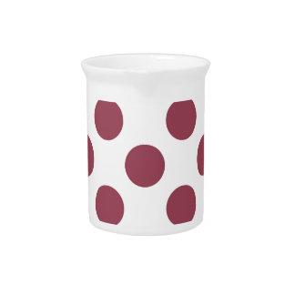 Polkadots color de rosa y blanco jarrones