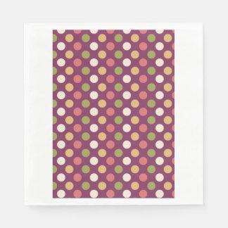Polkadots coloridos servilleta de papel