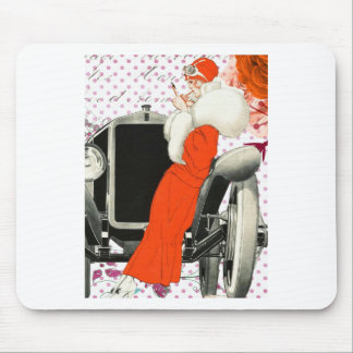 polkadots flapper mouse pad